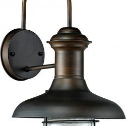 Estoril P Wall Lamp Outdoor Brown Oxide 1L 60w