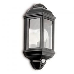 Parma Pir Medium Wall Lamp Outdoor Black 1L 60w