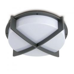 Cross 1 ceiling lamp Outdoor 2L Grey Dark E27 20w
