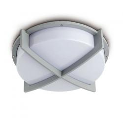 Cross 2 ceiling lamp Outdoor 2L Silver E27 20w
