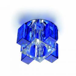 Vinson Lamp Recessed Blue