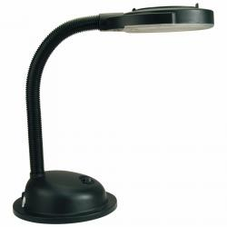 Lente Lamp Balanced-arm lamp with Lupa Black