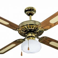 Samoa Fan with light old gold 4 blades ø107cm