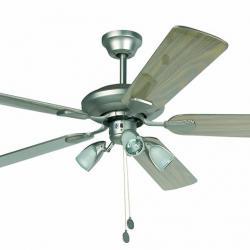 Alger Fan with light níquel Matt 5 blades ø132cm