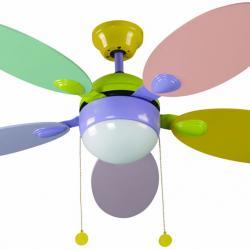 Tinos Fan with light Multicolour 5 blades ø106cm