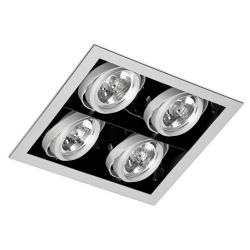 Gingko Recessed Ceiling adjustable 4xQR-111 100w Black