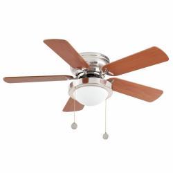 Skye Fan with light 91cm 5 blades 1xE27 Nickel mate