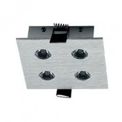 LUXE 4W Downlight LED Cuadrado Aluminio 25º 5000ºK