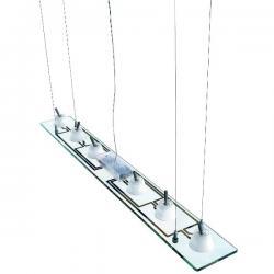 Lastra 6 Lámpara Colgante 6x35W GU4 Cristal