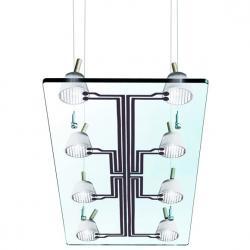 Lastra 8 Lámpara Colgante rectangular 8x35W GU4 Cristal