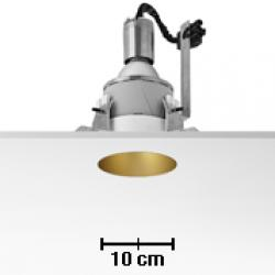 Kap 105 Downlight 105mm diametro para C dimmable TC Lámpara 35w negro