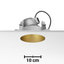 Kap 145 bañador of wall Downlight for C dimmable TC 70W Gold mate
