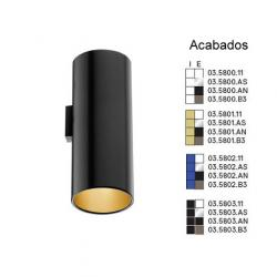 Kap Surface Wall Wall Lamp Black indoor Blue QT 14 2x33W