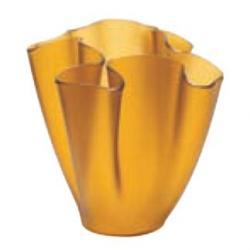 Cartoccio Jarrón 15cm Satiniertes Glas Gelb