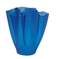 Cartoccio Jarrón 30cm Satiniertes Glas Blau