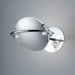 Nobi Wall Lamp 2 Diffusers and 1 Reflector ø15x78cm 1x120w R7s/80 (HL) + distanciador Chrome