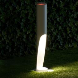 Toobo lámpara of Floor Lamp ø9,5x60cm 1x35w Gx10 (HM) + 1x1,5w Gu10 LED Aluminium/Aluminium