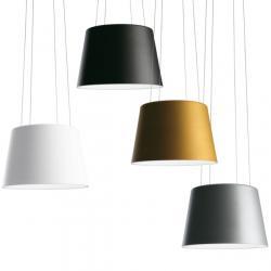 Aurea Pendant Lamp ø54x36 + 200 1x40w G10q Grey Aluminium