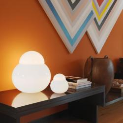 Daruma Table Lamp Glass white ø16x17cm 1x18w E27 (HL)