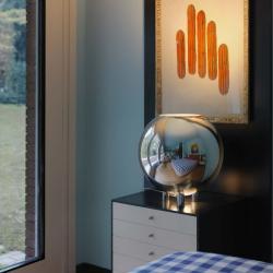 Globo Di Luce Lampe de table Chrome ø45x47cm 1x150w E27 (HL)
