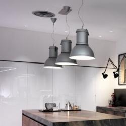 lamp Pendant Lamp Aluminium natural ø27x30 + 200 1x60w (HA) E27