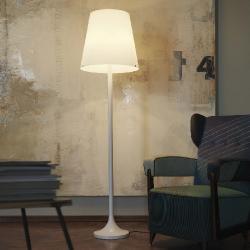 Lumen Floor Lamp Ø47x178cm 4x20w (FL) + 1x100w E27 (HL) white