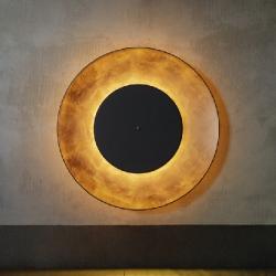 Lunaire Aplique/plafón LED 27,7W 3000Lm 3000K Reflector Dorado y Disco frontal negro