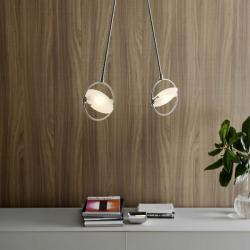 Nobi Pendant Lamp Chrome 2 lights 24x9x79cm 2x120w R7s/80