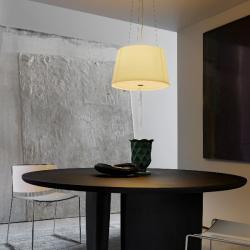 Passion Pendant Lamp white Satin ø47x28x150cm 1x150w E27 (HL)