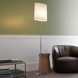"""Sara lámpara of Floor Lamp Chrome 37x24x162cm 1x140w E27 (HL) white Ã""""ptico"""
