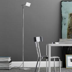 Scintilla lamp of Floor Lamp niquel Satin 26x26x180cm 300W R7s