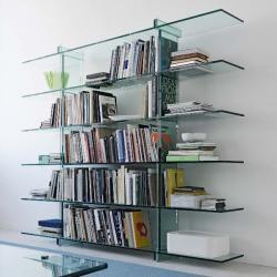Teso Librera rectangular 6 baldas Glass float 240x35x200cm
