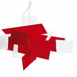 Big Bang Pendant Lamp 96cm R7s 160w Red
