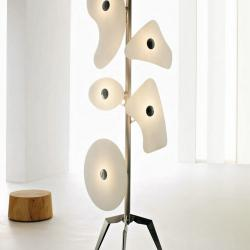 Orbital Floor Lamp vidrios White