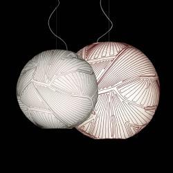 Planet Pendant Lamp Halogen ø80cm white/Rojo