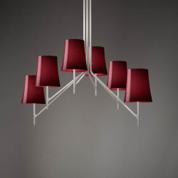Birdie 9 ceiling lamp E27 9x20w Amaranto