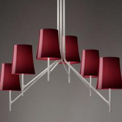 Birdie 6 Pendant Lamp E27 6x70w white