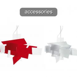 Big Bang Accessory Set lampshades for Pendant Lamp Red
