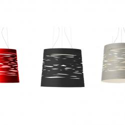 Tress Pendant Lamp mini cable 5m without florón Black