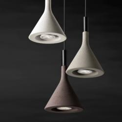Aplomb Mini Lampe Suspension Gris sans florón