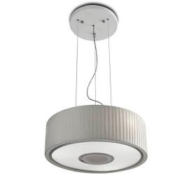 Spin Lámpara Colgante 100cm 7xE27 max30W - Cromo Difusor blanco opal