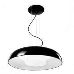 Tandem Lámpara Colgante 60cm 2Gx13 - negro lacado
