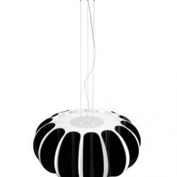 Blomma Lámpara Colgante E27 3x23w - negro