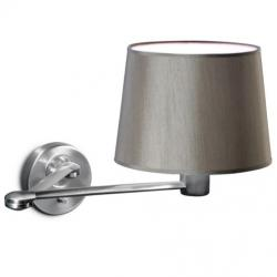 Suite II Wall Lamp articulado with lampshade and two arms 75cm E27 60w - Nickel Satin