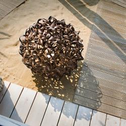 Salsola lámpara of Floor Lamp Outdoor fixed ø65cm E27 30w Brown aged