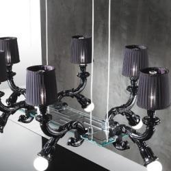 Wood Pendelleuchte 12 leuchten mit lampenschirme weiß