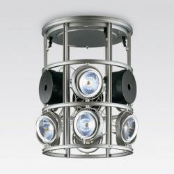 Luminaria cestello suspendida incluye tres transformadores 9xQR-111 100w 12v b15d