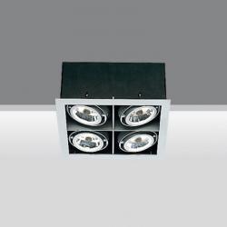 Frame 4 bodies opticos 4xQR-CBC 51 50w 12v gu5,3