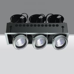 luminary trimmer 3 bodies opticos 3xhi par 30 35w E27 3xhi par 30 70w E27