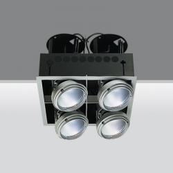 luminary trimmer 4 bodies opticos 40º 4x35w 70w 150w hit g12